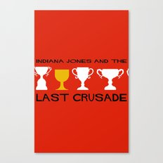 Indiana Jones and the Last Crusade Minimal Movie Poster Canvas Print