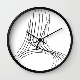 """""""Waves Collection"""" - Minimal Letter A Print Wall Clock"""
