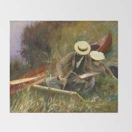 An Out of Doors Study by John Singer Sargent (1889) Throw Blanket