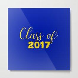 Class of 2017 - Blue Yellow Metal Print