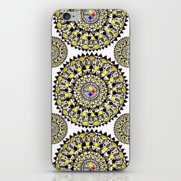 Football Themed Mandala Textile iPhone Skin