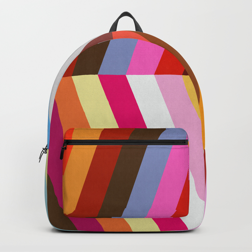 Vibrant And Colorful Pattern Vii Backpack by Printedpattern BKP8473117