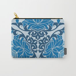Blue Chinese Floral Medallion Carry-All Pouch