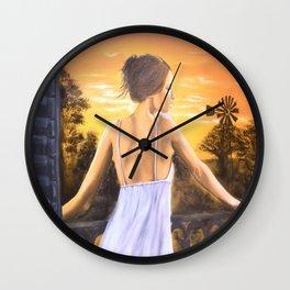 Karoo Skemer by M.Viljoen Wall Clock