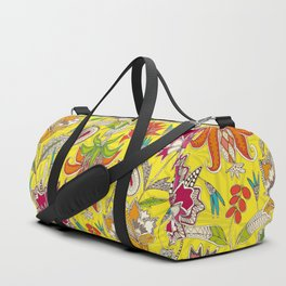 chintz pop yellow Duffle Bag