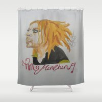 tim burton Shower Curtains featuring Tim Minchin. by TheArtOfFaithAsylum