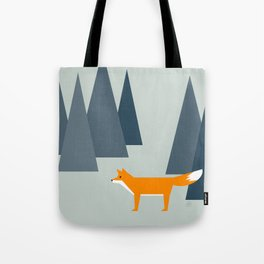 fox, woodland animals, minimal Tote Bag