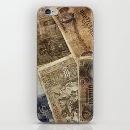 Old German money iPhone Skin