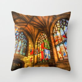 Evening Sun Cathedral Throw Pillow