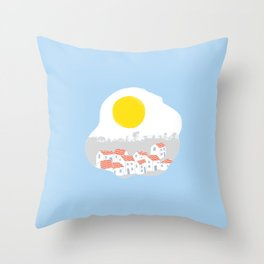 Breakfast Day  Throw Pillow