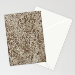 Natural Stone-Like Marble Brown Shades Stationery Cards