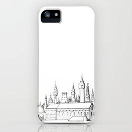 fabulous city . art . black and white iPhone Case