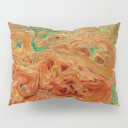 Gold Orange Ochre Green Lava Flow Pillow Sham