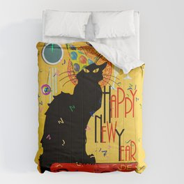 Chat Noir New Years Party Countdown Comforters