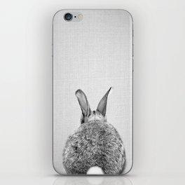 Rabbit Tail - Black & White iPhone Skin
