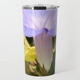 Purple Morning Glory Travel Mug