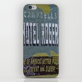 Idaho Falls - Vintage Hotel Rogers Better Place To Eat And Sleep iPhone Skin