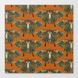 swallowtail butterfly copper Canvas Print