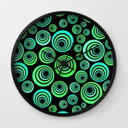 Neon blue and green Wall Clock