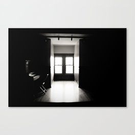 i live in a haunted house Canvas Print