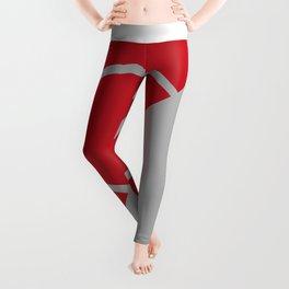 lines in red Leggings