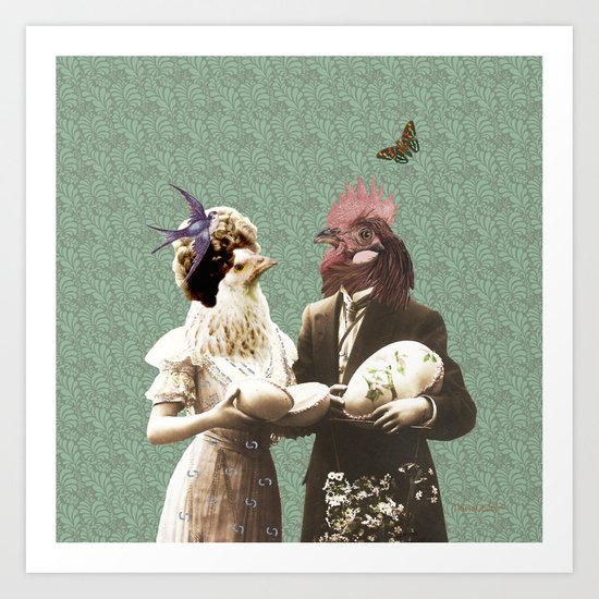 Mr & Ms Chick Art Print