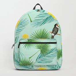 Tropical Pattern - monstera & toucans 5 Backpack