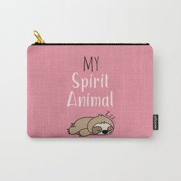 MY SPIRIT ANIMAL - Sleepy Sloth Carry-All Pouch