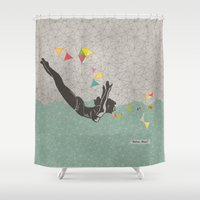 mom Shower Curtains featuring Relax Mom by Orit Kalev