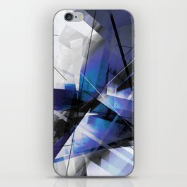 Divided by Glass - Geometic Abstract Art iPhone Skin
