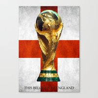 world cup Canvas Prints featuring World Cup by Rothko