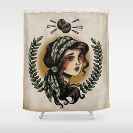 Caffeine Queen Shower Curtain