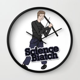Leo Fitz - Science Biatch Wall Clock