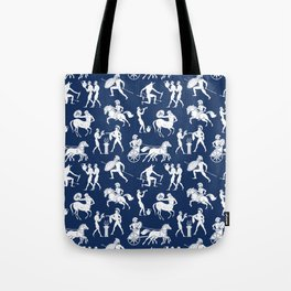 Greek Figures // Dark Blue Tote Bag