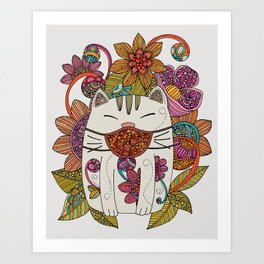 The Masked Cat Art Print