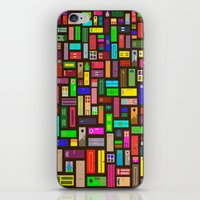 doors iPhone & iPod Skins featuring Doors - Black by Finlay McNevin