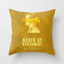 NORTH BY NORTHWEST - Hitchcok Poster Throw Pillow