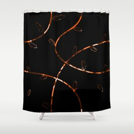 Jagged leaves, orange Shower Curtain