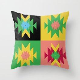 Folk Multi Throw Pillow