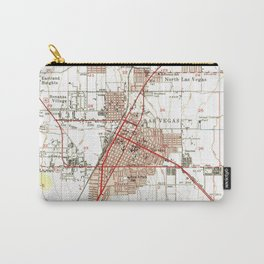 Vintage Map of Las Vegas Nevada (1952) Carry-All Pouch