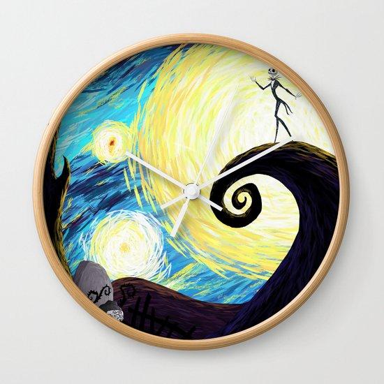 Starry Nightmare Wall Clock
