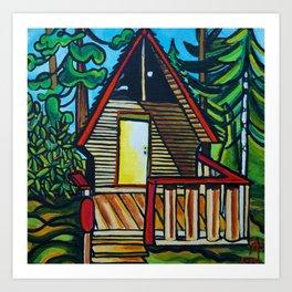 Ruby Lake Cabin Art Print