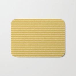 Stripes yellow and beige #homedecor Bath Mat