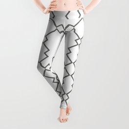 Abstract geometric pattern light brown Leggings