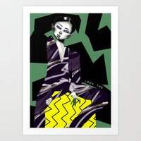 kenzo Art Prints featuring Kenzo by pocococoa
