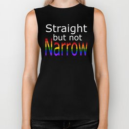 Straight But Not Narrow (white text) Biker Tank