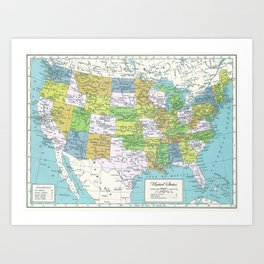 The United States Art Print