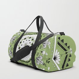 Star Mandala Green Duffle Bag