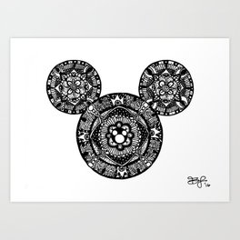 Mickey Mouse Mandala Art Print