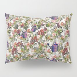 Floral with Watering Can Pillow Sham